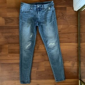 Mid rise jegging jeans light wash